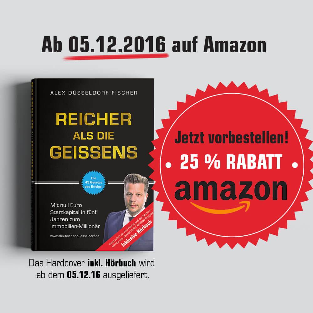 Reicher als die Geissen Amazon Hardcover Hörbuch Launch