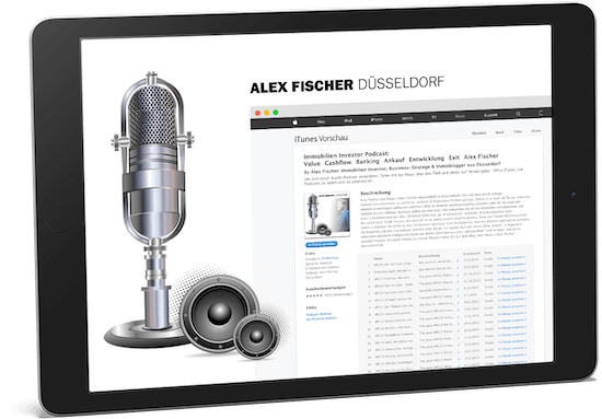 Alex Fischer Tablet Immobilien Investor Podcast