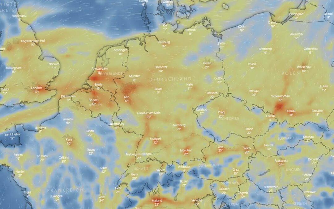 CO2 Karte Deutschland: Aktuelle Werte, Emissionen / Ausstoß von Verkehr, Industrie & Co.